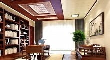 2016奥华书房、卧室效果图