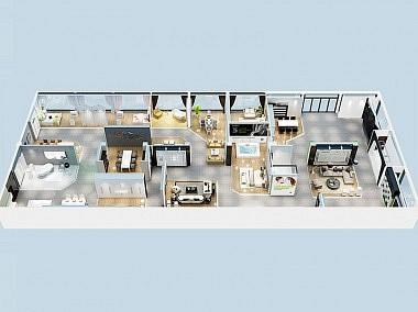 格勒-第四代终端超级店展示-装修效果图