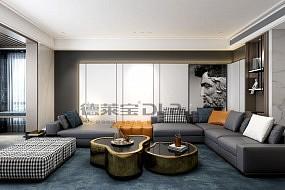 德莱宝无界大板客厅卧室背景墙效果图