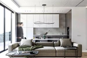 装修案例   74.1m²,知性优雅的灰色调现代风格