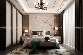奥华墙品卧室墙面效果图