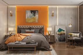 顶善美意式轻奢风格背景墙效果图