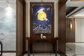 顶善美新中式风格背景墙效果图