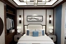 恋舍空间卧式书房背景墙集成墙板效果图
