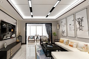 蜂窝大板打造的新中式风格居室装修