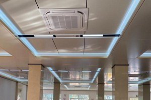装修案例丨500平的大气派餐厅用今顶大板吊顶就是不一样!