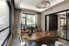 装修案例丨400㎡新中式别墅 满庭芳华